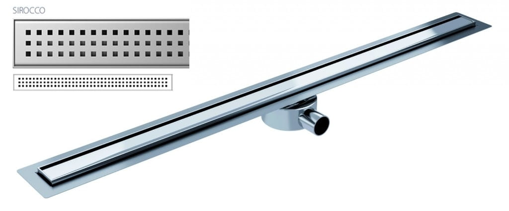 Odpływ liniowy Wiper Elite Slim Sirocco 80 cm metalowy syfon  EL800SI