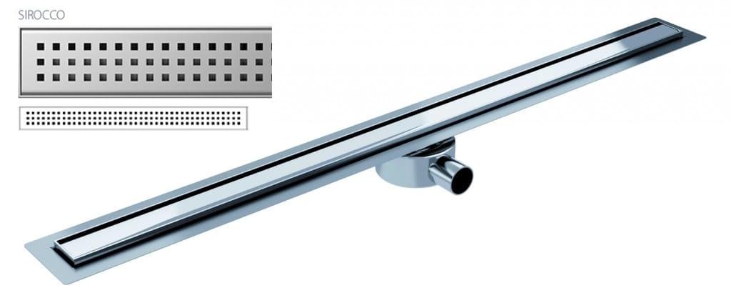 Odpływ liniowy Wiper Elite Slim Sirocco 110 cm metalowy syfon  EL1100SI