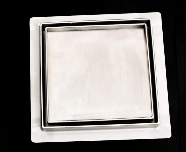 Kesmet wpust podłogowy 10x10cm 100x100KNF_m Ceramic (syfon metalowy)