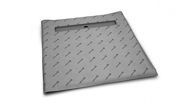 Radaway kwadratowy brodzik podpłytkowy 109x109 cm z odpływem liniowym i syfonem 5CL1111A/5R085X/5SL1