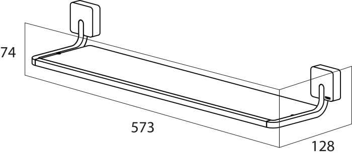 Tiger Impuls półka pod lustro stal szczotkowana 3859.09