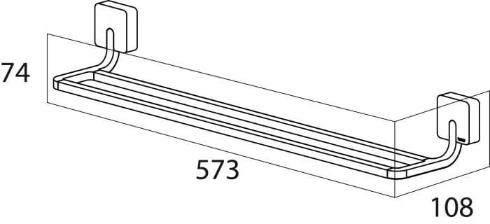 Tiger Impuls wieszak na ręcznik kąpielowy podwójny stal szczotkowana 3861.09