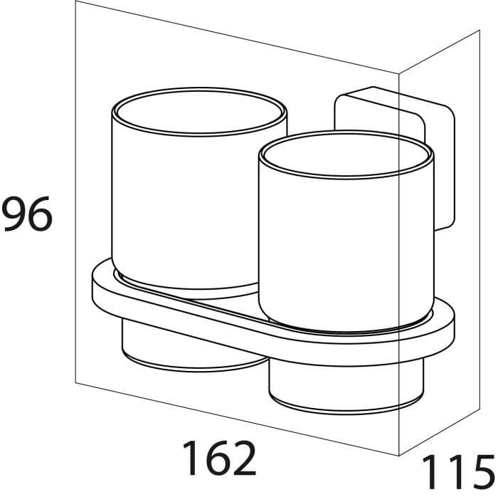 Tiger Impuls szklanka podwójna chrom 3852.03