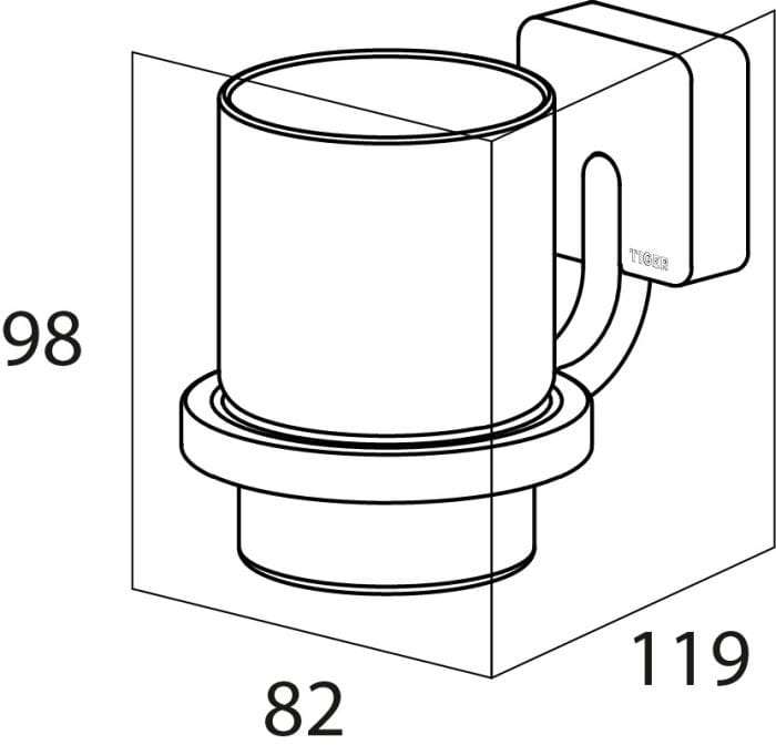Tiger Impuls szklanka pojedyncza chrom 3851.03