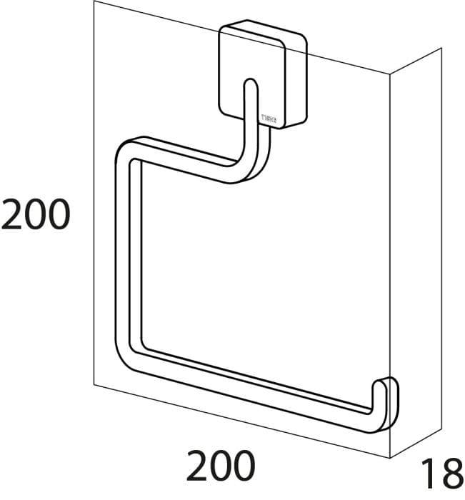 Tiger Impuls wieszak ręcznikowy ring chrom 3864.03