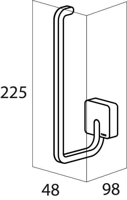 Tiger Impuls wieszak na zapas papieru toaletowego chrom 3854.03