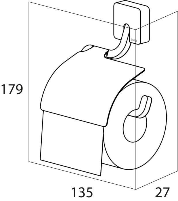 Tiger Impuls wieszak na papier toaletowy chrom 3866.03
