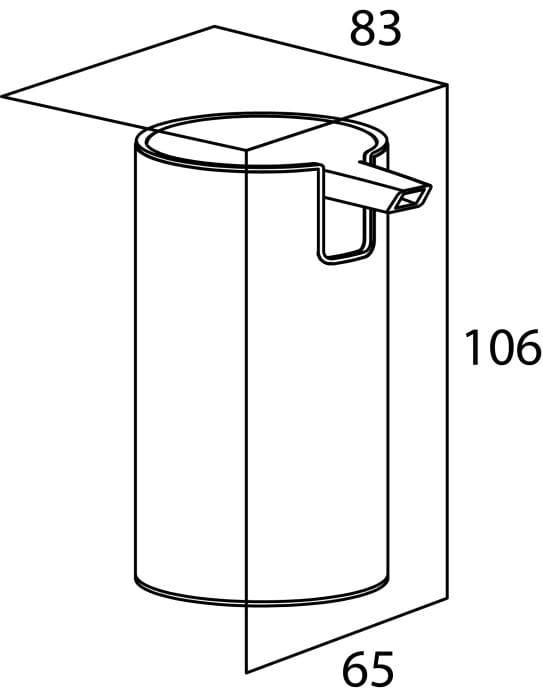 Tiger Boston dozownik na mydło w płynie wolnostający 130 ml stal szczotkowana 3065.09