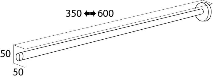 Tiger Boston wieszak teleskopowy stal szczotkowana 3042.09