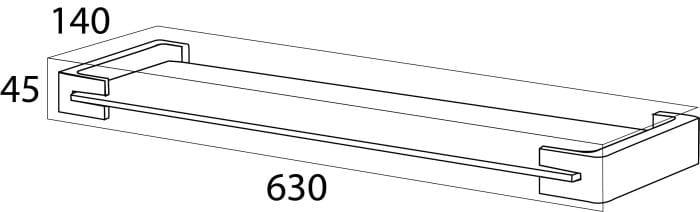 Tiger Ontario półka szklana chrom 3009.03