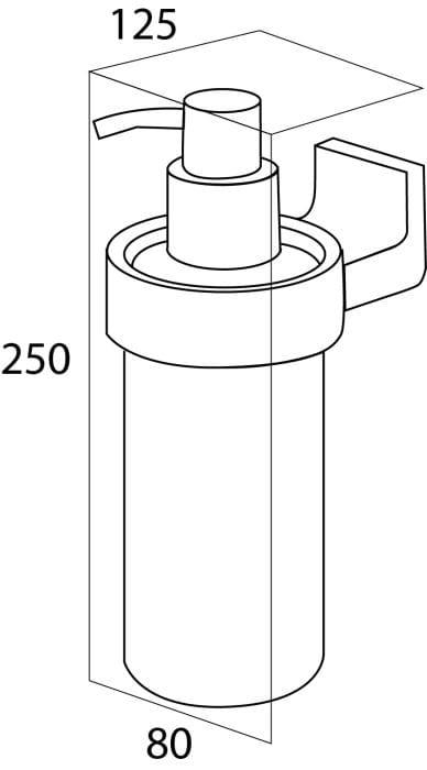 Tiger Ontario dozownik na mydło w płynie metalowy chrom 3010.03