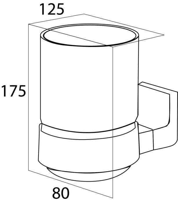 Tiger Ontario szklanka pojedyncza chrom 3001.03