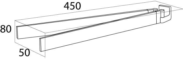 Tiger Ontario wieszak ręcznikowy dwuramienny ruchomy chrom 3012.03