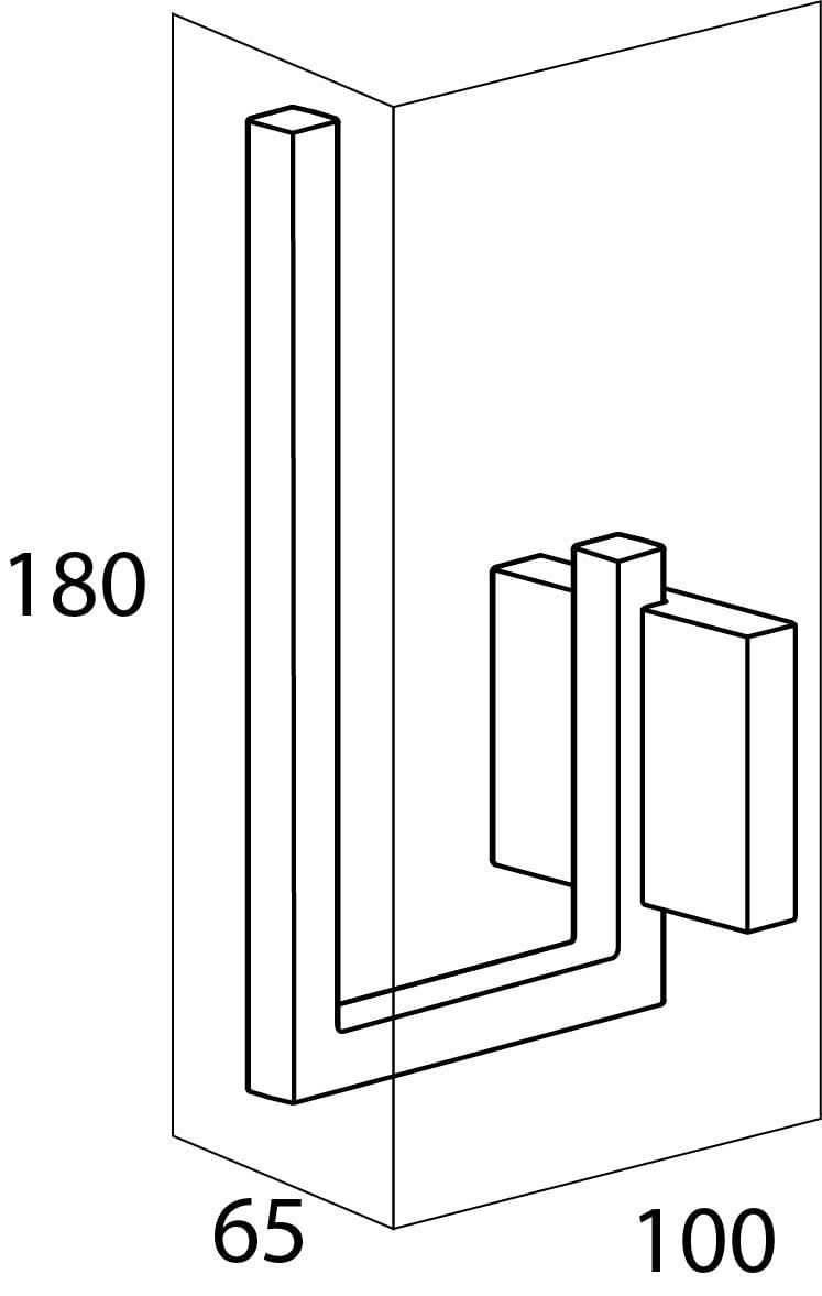 Tiger Zenna wieszak na zapas papieru toaletowego chrom/wenge 3504.83
