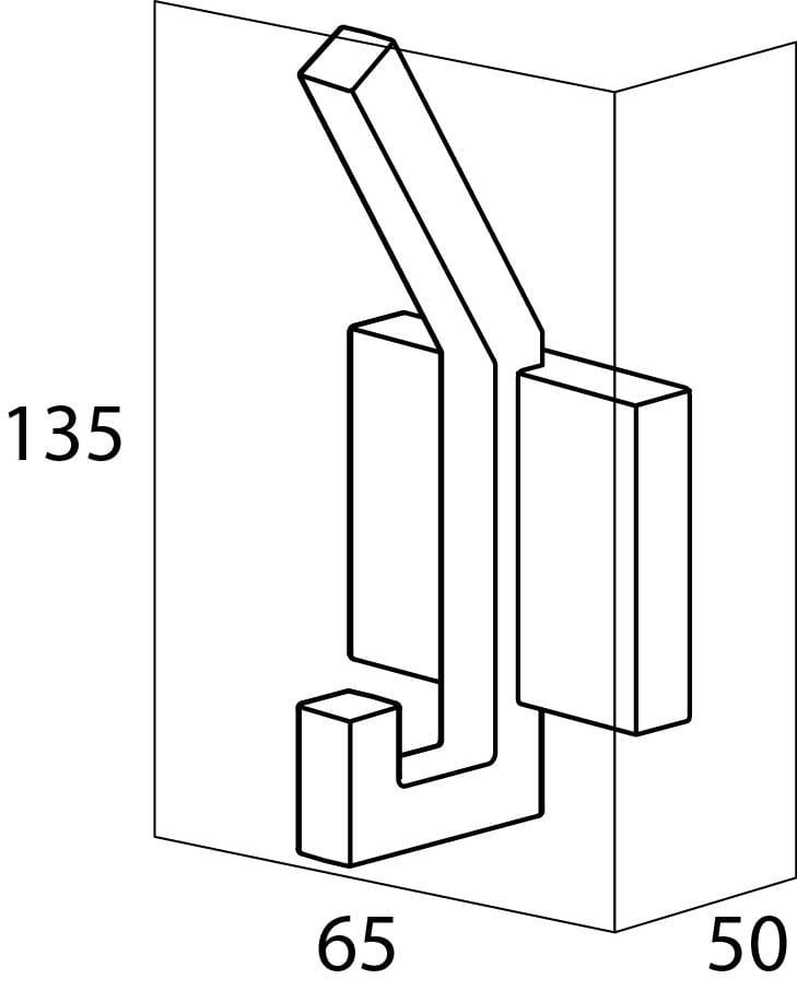 Tiger Zenna haczyk podwójny chrom/wenge 3521.83