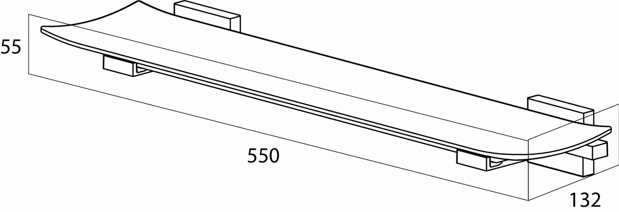 Tiger Zenna półka pod lustro chrom/wenge 3509.83