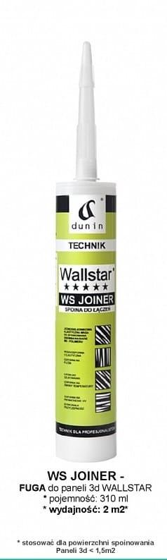 Wallstar WS Joiner fuga do gzymsów, profili ściennych, listew przypodłogowych poj. 300 ml