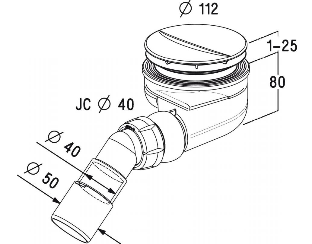 Radaway syfon czyszczony od góry 90 mm Turboflow TB90