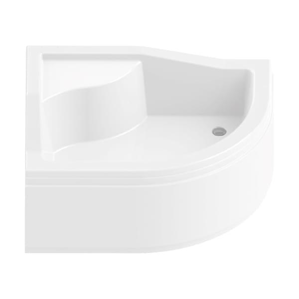 New Trendy | Brodzik MAXIMA z siedziskiem 120 x 85 x 38cm,  lewyB-0256/L