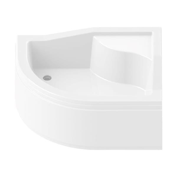 New Trendy | Brodzik MAXIMA z siedziskiem 120 x 85 x 38cm   prawy B-0257/P
