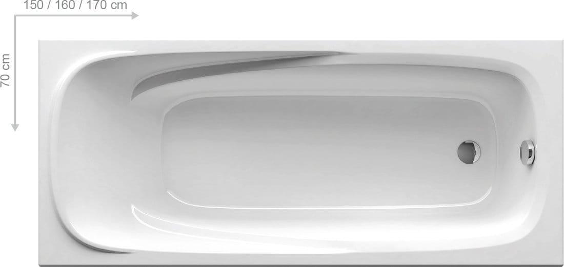 RAVAK wanna Vanda II 160x70  biała CP11000000