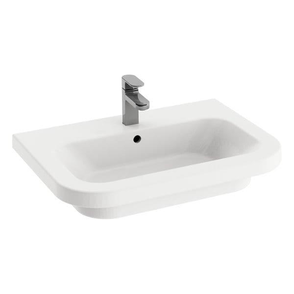Ravak umywalka ceramiczna Chrome 650 biała z otworami  XJG01165000