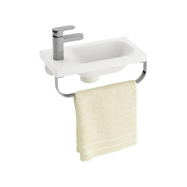 Ravak umywalka Chrome 400 L biała z otworami XJGL1100000