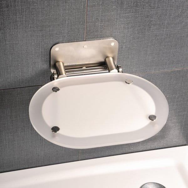 Ravak siedzisko prysznicowe Ovo Chrome Clear/stainless  B8F0000029