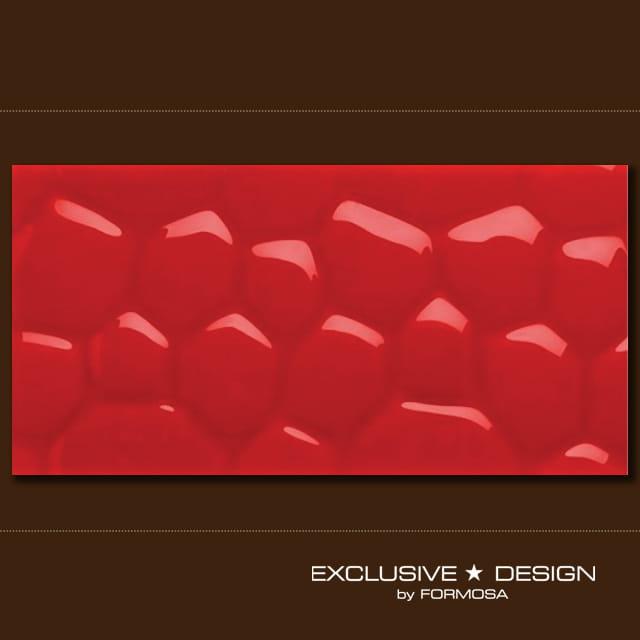 MIDAS płytka 3D Cobble red 600x300x8 mm A-TGL08XX-008