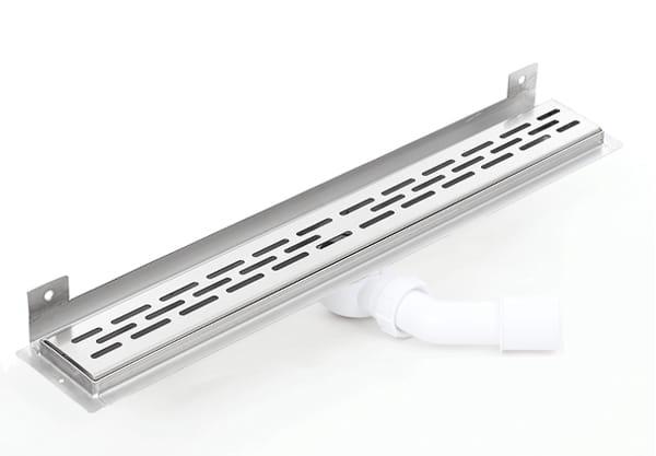 Kesmet Wall Silver Stripes odpływ ścienny 900KWF_p 900mm (syfon plastikowy)