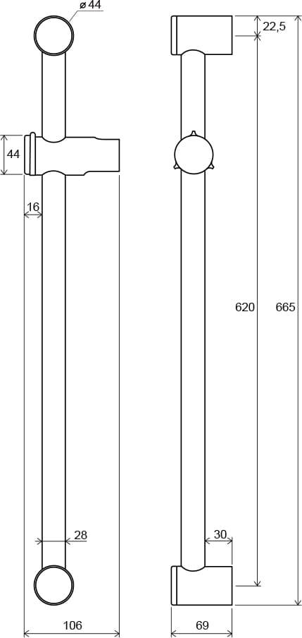 Ravak  drążek prysznicowy z przesuwnym uchwytem 60cm  972.00  X07P012