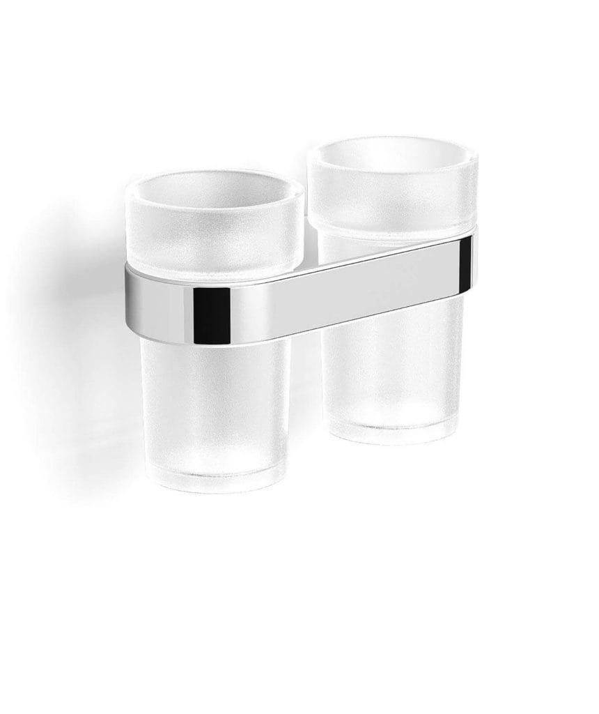 Stella Soul uchwyt z dwoma szklankami 06.412 chrom