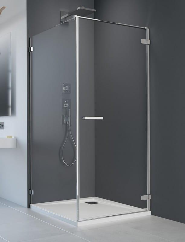 Kabina prysznicowa prostokątna Radaway Arta KDJ I drzwi 100 prawe x ścianka 80 szkło przejrzyste wys. 200 cm, 386083-03-01R /386020-03-01