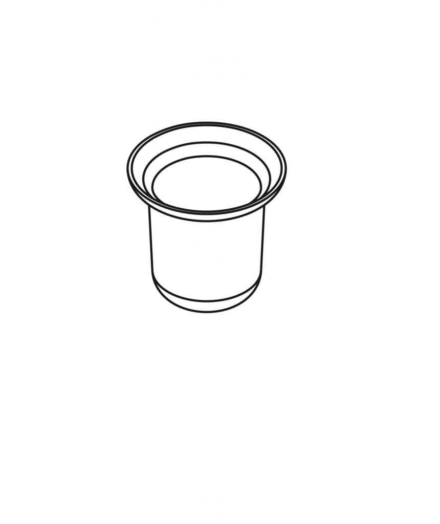 Stella pojemnik szklany do szczotki wc 80.005, zamiennik do 07.430, stojaka 19.201, 19.204