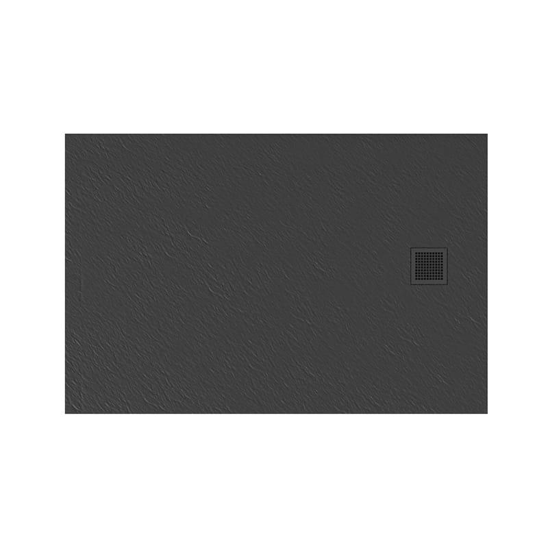 New Trendy | Brodzik MORI prostokątny, konglomerat 140x80x3cm  szary  B-0400