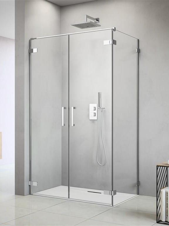 Kabina Radaway Arta DWD+S lewa, drzwi 95 cm (45L+50R cm) + ścianka boczna 80 cm, szkło przejrzyste, wys. 200 cm, 386181-03-01L/386052-03-01R/386110-03-01