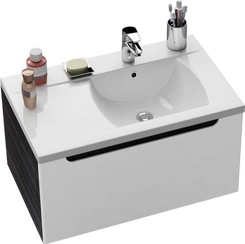 Ravak umywalka Classic 800 P biała z otworami XJDP1180000