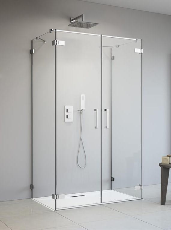 Kabina Radaway Arta DWD+2S drzwi 120 cm x 2 ścianki 100 cm, szkło przejrzyste wys. 200 cm, 386054-03-01L/386054-03-01R/386112-03-01/386112-03-01