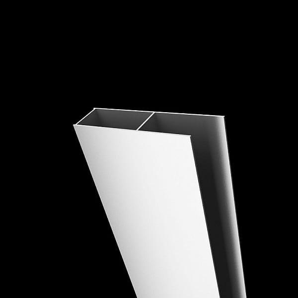 Radaway profil poszerzający Classic U biały + 4 cm P01-124185004