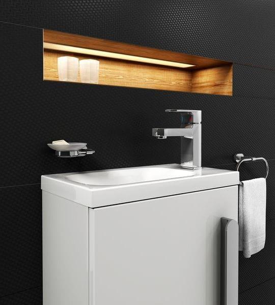 Ravak umywalka Chrome 400 P biała z otworami XJGP1100000