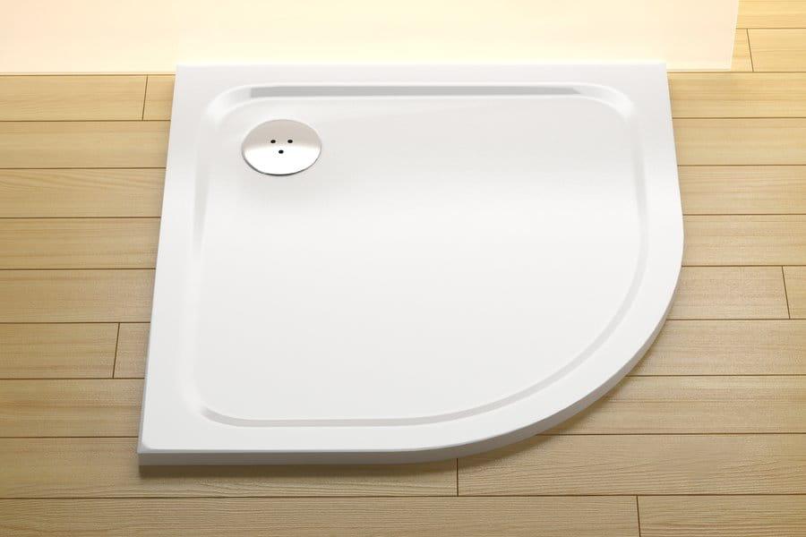 Ravak brodzik prysznicowy niski Elipso Pro Chrome 80 biały  XA244401010