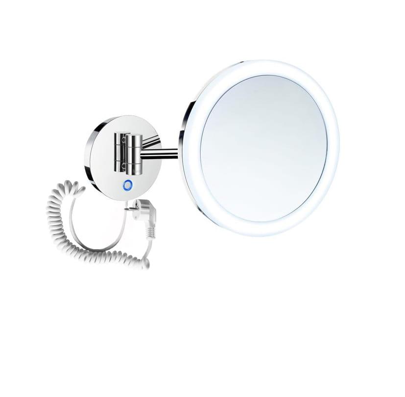 Stella lusterko kosmetyczne powiększające x3  podświetlane LED włącznik sensorowy,podwójne ruchome ramię 22.00431