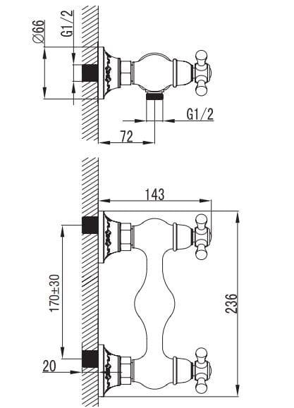 Art Platino Nikolas bateria prysznicowa chrom NIK-BPK.030C