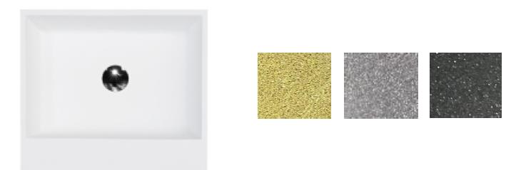 Besco umywalka nablatowa Vera Glam Grafit 40x50x15 cm biało-grafitowa