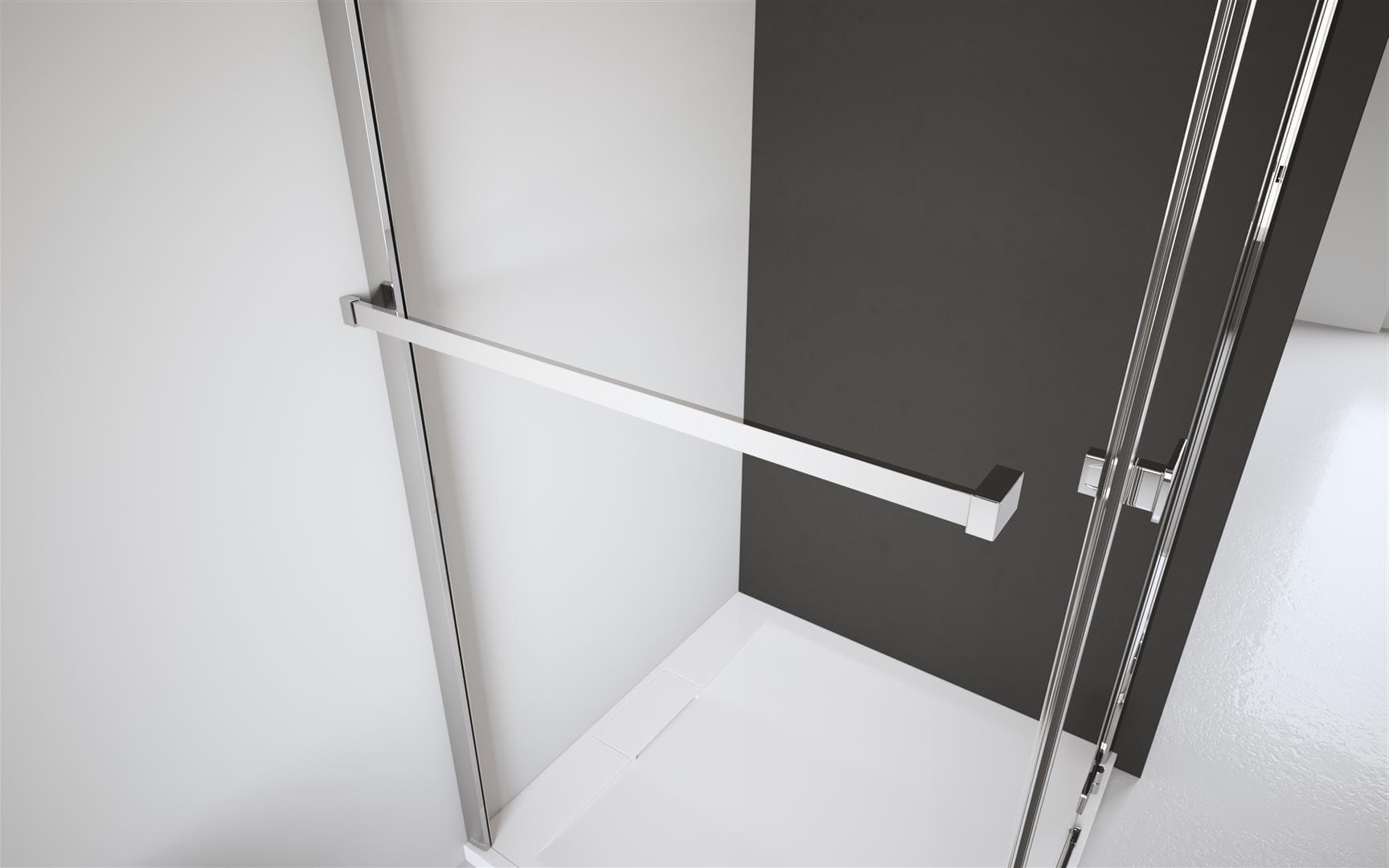 Radaway wieszak na ręcznik (montaż do szyby i do ściany stałej lewy) chrom WRW01-L