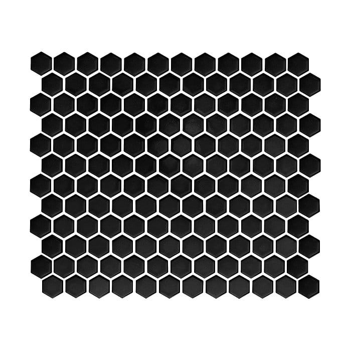 DUNIN Mini Hexagon Black mozaika ceramiczna
