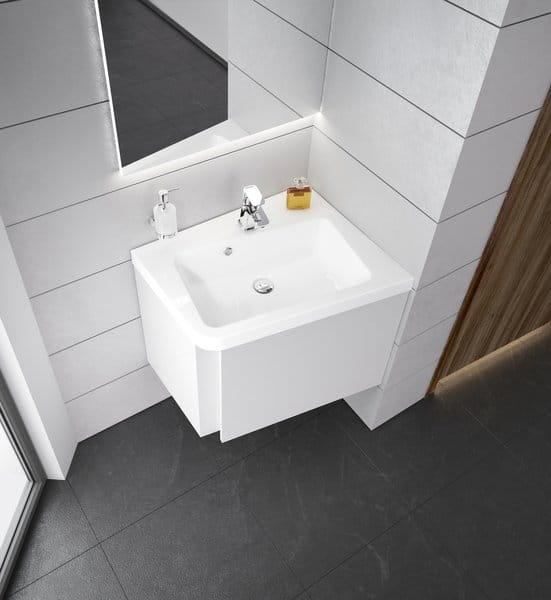Ravak umywalka  10°(stopni)  650 biała z otworami,  prawa  XJIP1165000