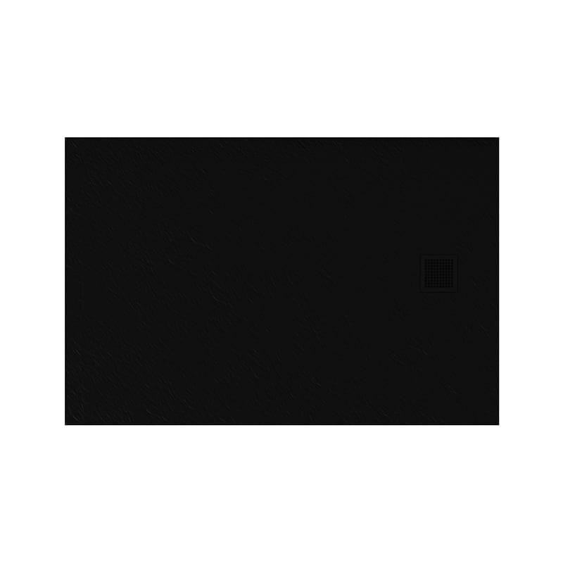 New Trendy | Brodzik MORI prostokątny, konglomerat 140x80x3cm  czarny  B-0407