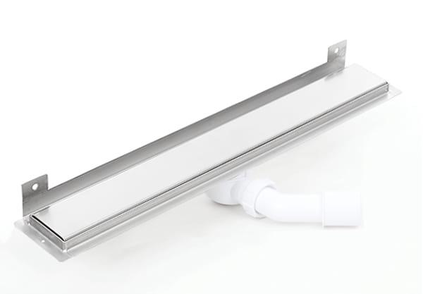 Kesmet Wall Silver Smooth odpływ ścienny 500KWF_p 500mm (syfon plastikowy)