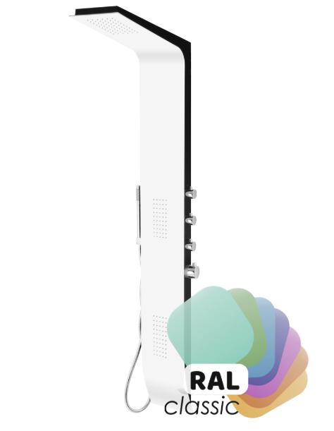 Corsan panel prysznicowy z termostatem aluminiowy Duo Ral A-8777
